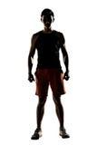 Kontur av den unga manliga idrottsman nen Fotografering för Bildbyråer