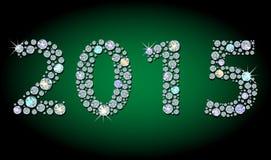 Kontur av diamanten 2015 år Arkivbilder
