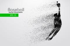 Kontur av en basebollspelare också vektor för coreldrawillustration Fotografering för Bildbyråer