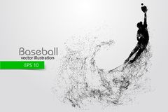 Kontur av en basebollspelare också vektor för coreldrawillustration Arkivfoto