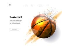 Kontur av en basketboll vektor illustrationer