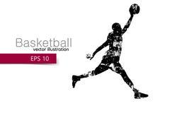 Kontur av en basketspelare Arkivbild