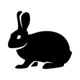 Kontur av en fluffig kanin- eller harelogo Arkivfoton