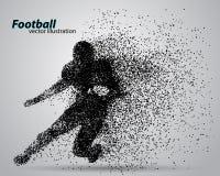 Kontur av en fotbollsspelare från partikel rugby amerikansk footballer royaltyfri illustrationer