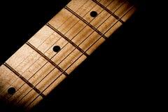 Kontur av en gitarr Arkivfoto