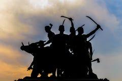 Kontur av en staty Royaltyfri Fotografi