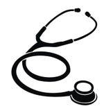 Kontur av en stetoskop Royaltyfria Bilder