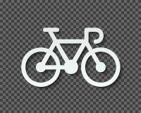 Kontur av ett cykelsnitt ut ur papper med en blandning Transparen stock illustrationer