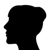 Kontur av ett kvinnahuvud stock illustrationer