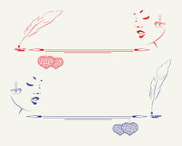 Kontur av framsidan för flicka s med utrymme för text vektor illustrationer