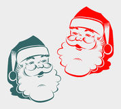 Kontur av huvudet Santa Claus royaltyfri illustrationer
