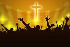 Kontur av kristna böner royaltyfri illustrationer