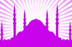 Kontur av moskén vektor illustrationer