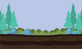 Kontur av naturlandskapet Arkivfoton