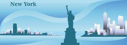 Kontur av New York Arkivfoton