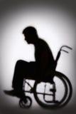 Kontur av rörelsehindrade Person In Wheelchair Fotografering för Bildbyråer