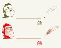 Kontur av Santa Claus med stället för text vektor illustrationer