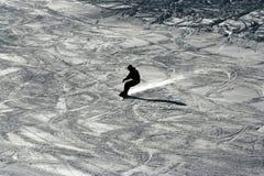Kontur av snowboarderen Royaltyfria Foton
