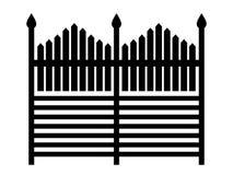 Kontur av staketet som isoleras på vit bakgrund Royaltyfri Fotografi