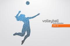 Kontur av volleybollspelaren