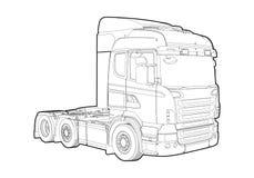 kontur ciężarówka Fotografia Stock
