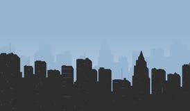 Kontur der Stadt Stockfoto