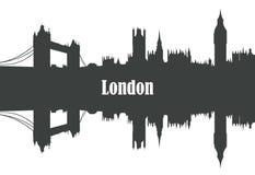 Kontur der Stadt von London Lizenzfreie Stockfotos