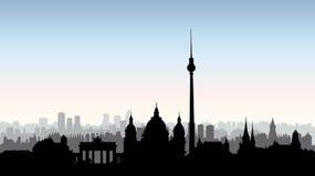 Kontur för Berlin stadsbyggnader Tyskt stads- landskap berkshires vektor illustrationer