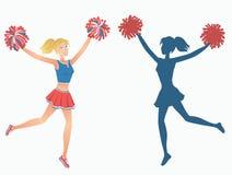 Kontur för dansflicka Arkivbild