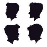 Kontur för fyra olik män också vektor för coreldrawillustration Vektor Illustrationer