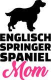 Kontur för mamma för spaniel för engelsk Springer royaltyfri illustrationer