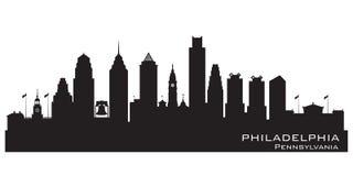 Kontur för vektor för Philadelphia Pennsylvania stadshorisont stock illustrationer