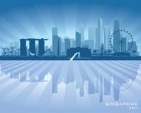 Kontur för vektor för Singapore stadshorisont vektor illustrationer