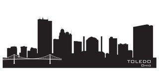 Kontur för vektor för Toledo Ohio stadshorisont stock illustrationer