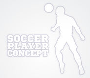 Kontur för fotbollfotbollsspelarebegrepp Arkivfoton