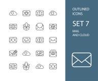Kontur ikony cienieją płaskiego projekt, nowożytny kreskowy uderzenie Zdjęcie Royalty Free