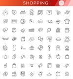 Kontur ikony kolekcja - Black Friday Duża sprzedaż royalty ilustracja