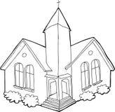 Kontur kościół Fotografia Royalty Free