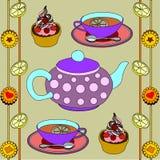 Kontur lenta питья чая Стоковое Изображение RF