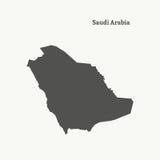 Kontur mapa Arabia Saudyjska ilustracja Obrazy Royalty Free