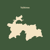 Kontur mapa Tajikistan ilustracja Zdjęcia Stock