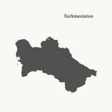 Kontur mapa Turkmenistan ilustracja Zdjęcia Royalty Free