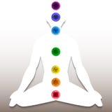 Kontur med chakrasystemet Royaltyfri Fotografi