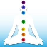 Kontur med chakrasystemet Royaltyfri Bild