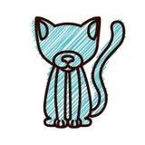 Kontur med katttamdjurband stock illustrationer