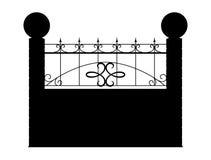 Kontur odizolowywający na białym tle ogrodzenie 3d odpłacają się image Zdjęcie Stock