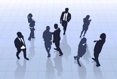 Kontur Team Businesspeople Group Human Resources för svart för affärsfolk Royaltyfria Foton