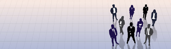 Kontur Team Businesspeople Group Human Resources för svart för affärsfolk Arkivfoton