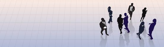 Kontur Team Businesspeople Group Human Resources för svart för affärsfolk Arkivbild