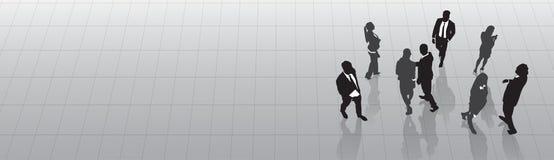 Kontur Team Businesspeople Group Human Resources för svart för affärsfolk Arkivfoto